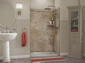 flexstone 48 quot x36 quot x78 quot elegance 3 panel shower kit at menards 174