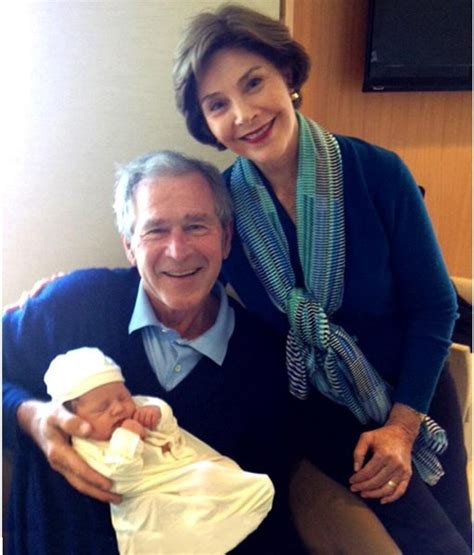 george w bush birth former us president george bush and wife laura welcome
