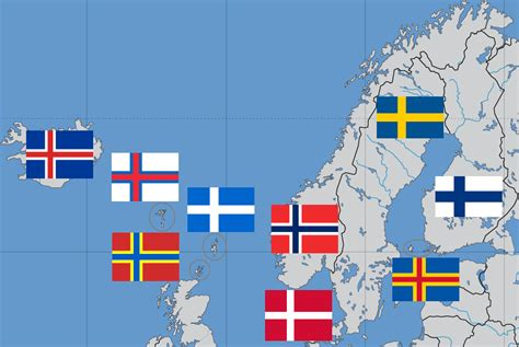 flags of the world with crosses countries with the scandinavian cross flag design