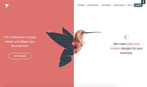 vertical layout web design 20 exles of vertical split screen layout in web design
