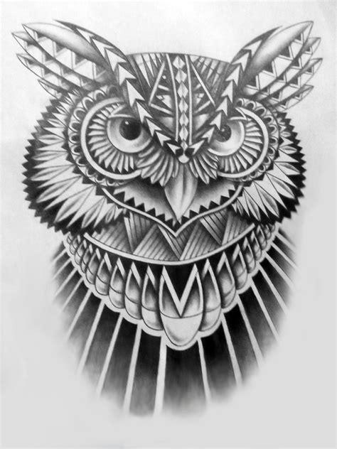 tribal pattern owl tribal owl by jinx2304 on deviantart
