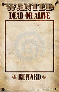 reward posters template blank wanted poster clipart