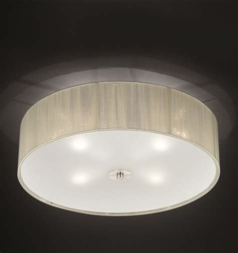 fabric flush ceiling lights from easy lighting