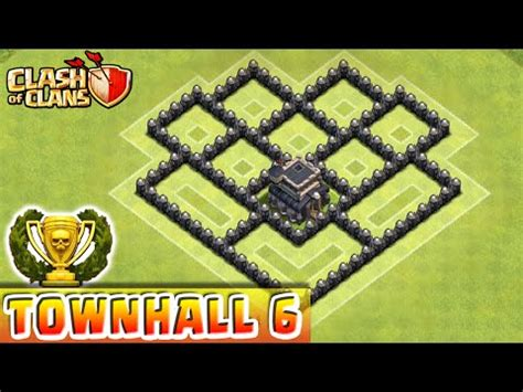 coc nazi layout clash of clans defense strategy townhall level 6