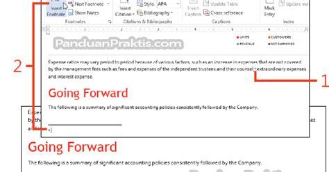 format footnote makalah cara menambahkan dan mengubah format footnote dan endnote