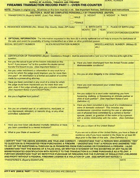 Ffl Background Check Form Transition Team For Obama Wants To Data Mine Firearms