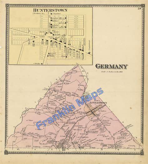 1872 pennsylvania county map cumberland franklin adams andy s antique maps 1864 lancaster county pennsylvania