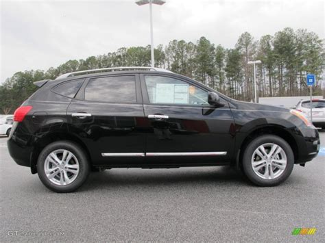 black nissan rogue 2012 super black 2012 nissan rogue sv exterior photo 61633040