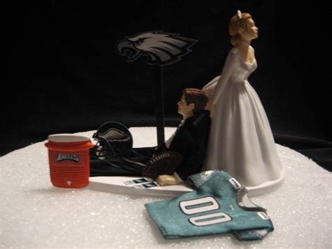 Wedding Cakes Philadelphia by Philadelphia Eagles Wedding Cake Topper Groom Jersey