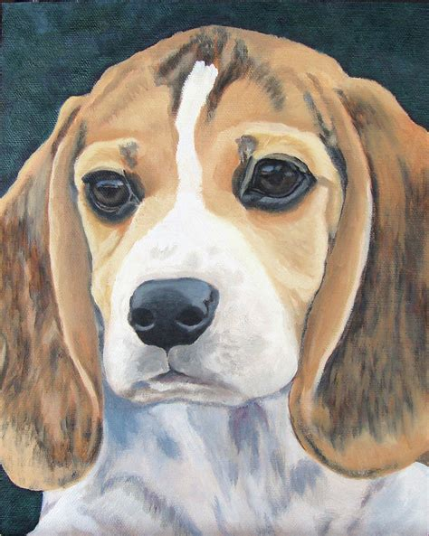puppy paint beagle puppy painting by susan garriques