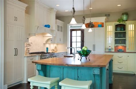 Aqua Kitchen Cabinets by Designed To The Nines Trend Fresh Colors For