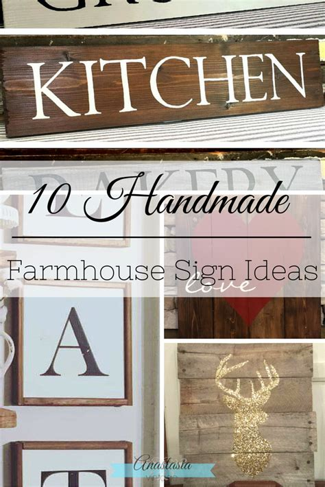 Handmade Sign Ideas - 10 handmade farmhouse sign ideas vintage