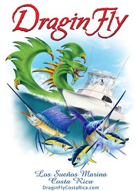 boat marina t shirts dragin fly costa rica sport fishing in comfort for