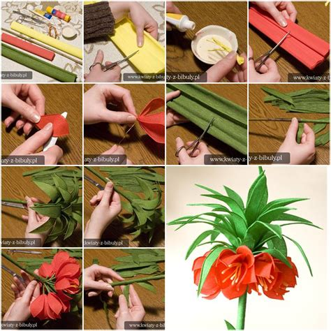 How To Make A Paper Flowers Step By Step - how to make pretty crepe paper flower step by step diy