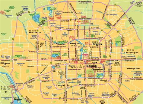 beijing map bilingual map of beijing beijing map beijing tours beijing travel guide at