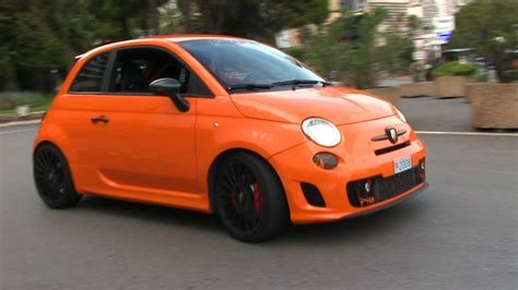 fast fiat 500 this orange abarth 500 is insanely fast