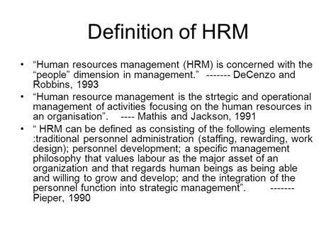 management description human resource management description teacheng us