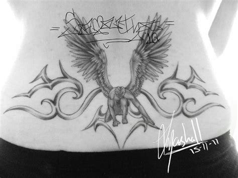 fallen angel tribal tattoo pin chibi and boy i12 pelautscom on