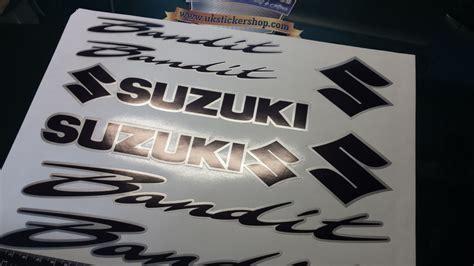 Suzuki Bandit Decals Suzuki Bandit 2 Colour Decals Stickers Black Silver