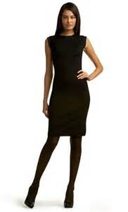 how to wear tights with that little black dress