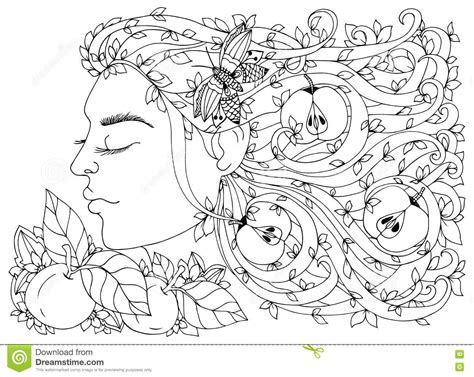 doodle hair vector vector illustration zen tangle with flowers