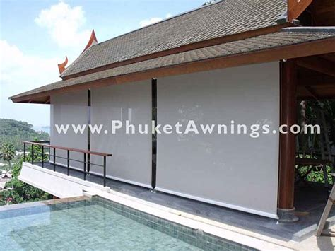 roll up awnings vertical awning roll up sunshade with soltis sun screen phuket awnings