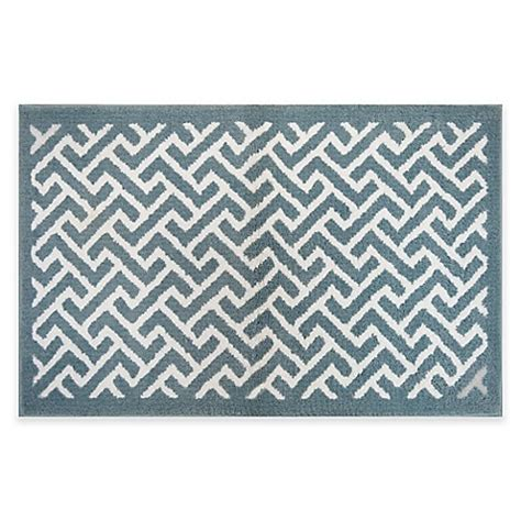 chevron bath rugs buy adelaide 20 inch x 33 inch chevron bath rug in sky blue from bed bath beyond