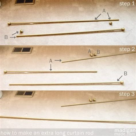 diy extra long curtain rod 25 best ideas about extra long curtains on pinterest