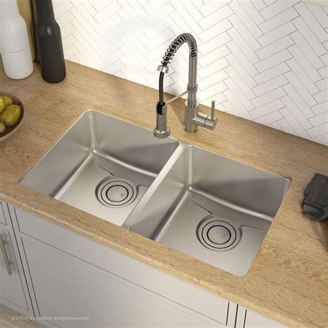 kraus 36 inch undermount sink kraus kd1ud33b 33 inch undermount 50 50 bowl