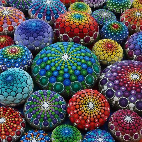 colorful stones the colorful mandala stones of elspeth mclean
