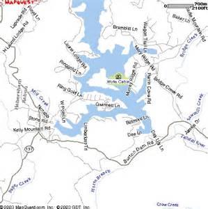 map wylie wylie cabin at lake burton maps