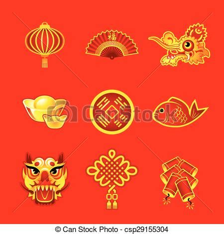 new years symbols vector clipart of new year symbols new