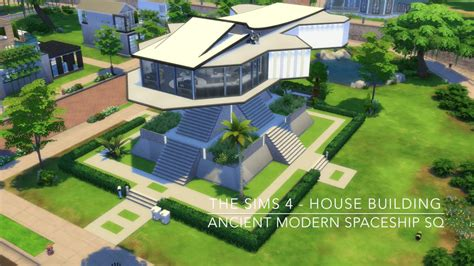 The Sims 4   House Building   Ancient Modern Spaceship SQ