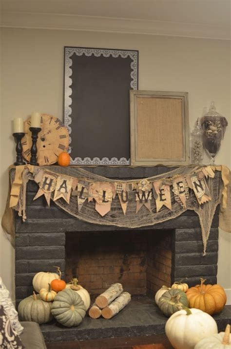 fireplace decorations 18 spooktacular ideas for your fireplace mantel
