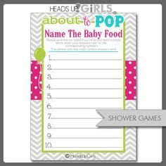 baby food guessing template 1000 images about baby shower ideas on baby