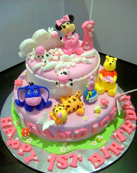 Birthday Cake Designs by Aimummy Another Sweet Pooh Minnie Cake