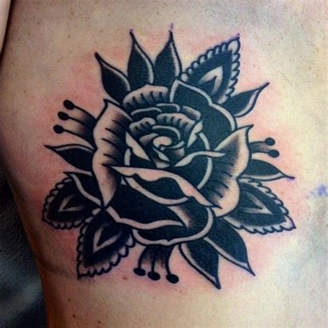 black rose of death tattoo black black