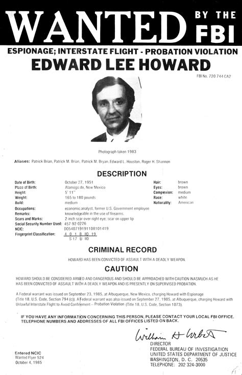 fbi wanted poster template file edwardleehowardwantedposter jpg wikimedia commons