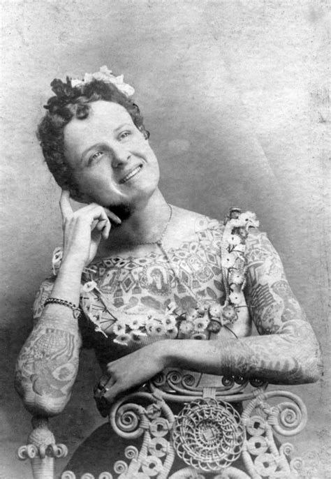 female tattoo history pin maud wagner the first well known female tattoo