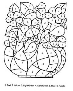 color number free coloring pages of colour by number 1 5