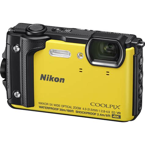 nikon coolpix w300 digital yellow 26525 b h photo