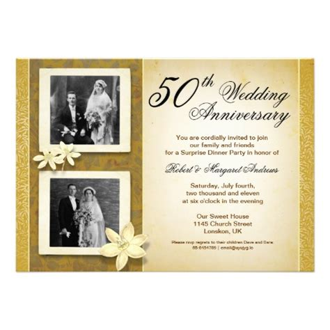 50th wedding anniversary templates fancy 50th wedding anniversary invitation superdazzle