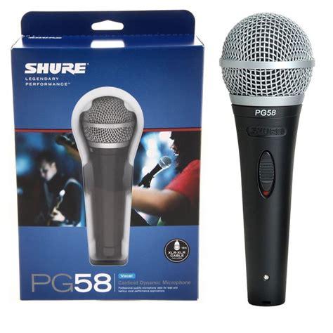 Diskon Mic Kabel Shure Pg 38a jual microphone mic shure pg58 kabel dynamic professonal