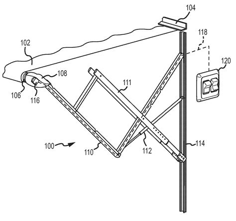 Horizontal Awnings Retractable Patent Us20110048651 Awning Control With