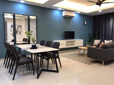 idea dekorasi rumah teres  tingkat kos rendah gaya