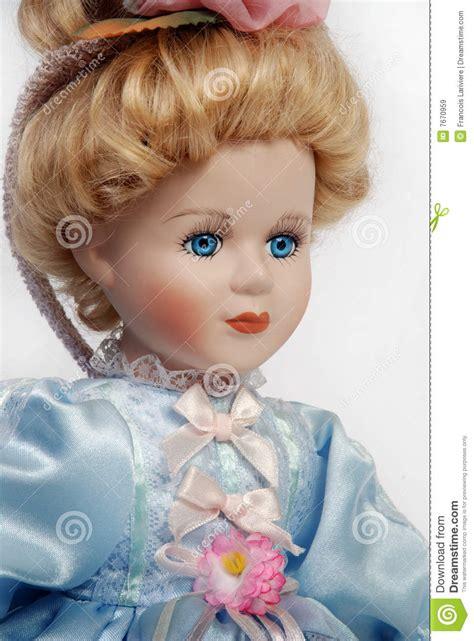 antique porcelain doll with 3 faces portrait of antique porcelain doll royalty free stock