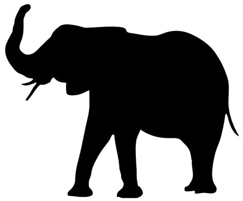 white silhouette elephant clip art
