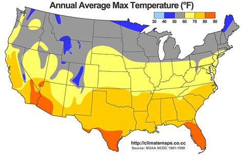united states map and temperatures file average annual high temperature of the united states