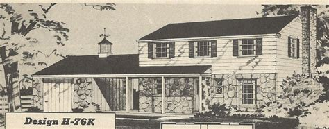 Vintage House Plans 1950s Two Story 1 1 2 Story And Vintage Two Story House Plans