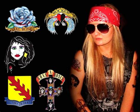 axl rose temporary tattoos axl costume tattoos tattoos gallery